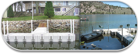 T shaped floating dock