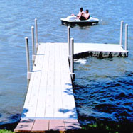 Floating Dock with one finger