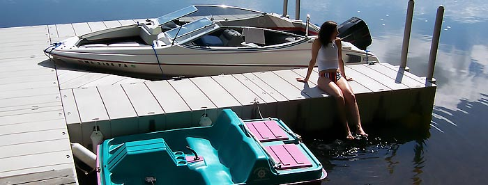Floating Dock F-Shape Packages for Homes or Cabins