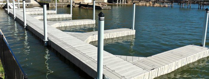 Floating Dock System For Marinas Docking