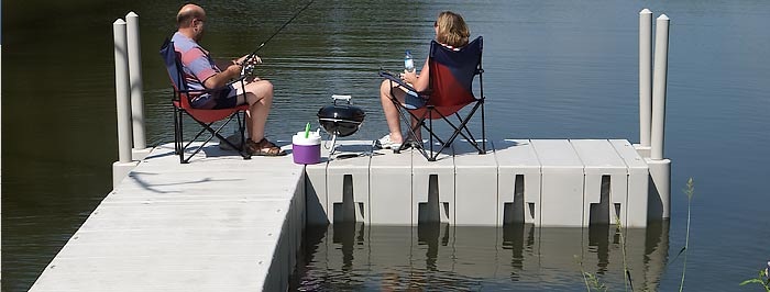 U floating dock surround your boat