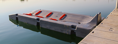 Jet ski port for personal water craft docking