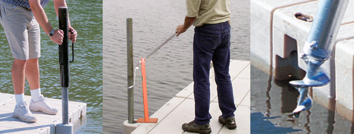 Dock Anchoring 1000 Series-Low Profile and 2000 Series-High