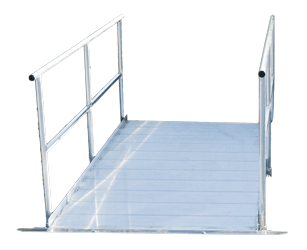 Aluminum 4 x 8 Gangway with handrails