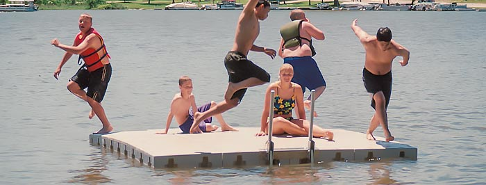 Swim raft dock