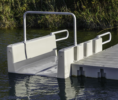 YAKport Kayak Launch attached to 1000 Series dock
