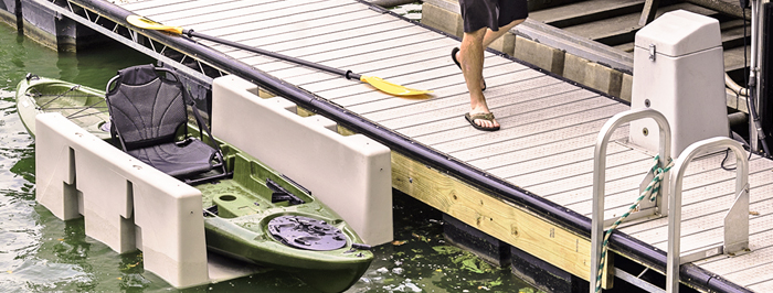 YAKport Kayak Launch atted to Floating Dock