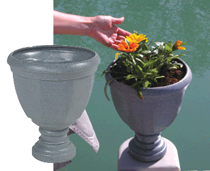Add a self wicking planter to your floating dock
